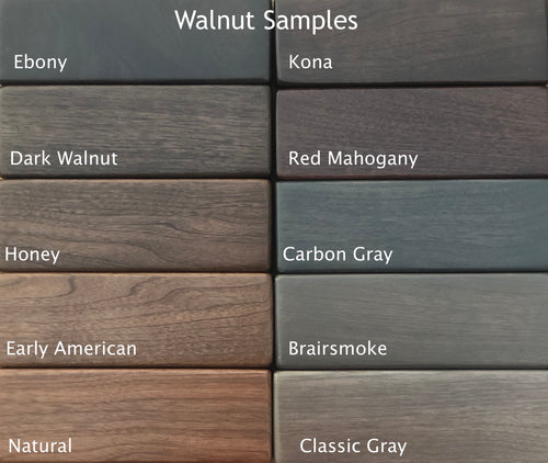 Walnut Stain/Paint Samples