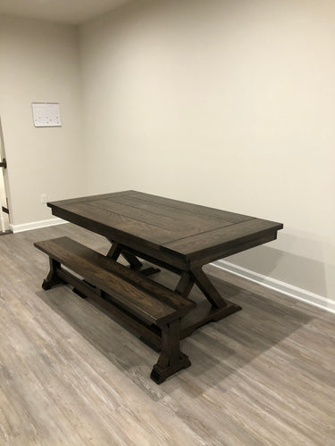 Ellie Trestle Table - Red Oak