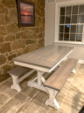 Load image into Gallery viewer, Derickson Trestle Table - Red Oak