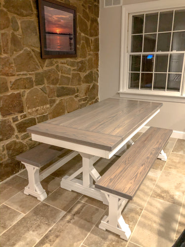 Derickson Trestle Table - Red Oak