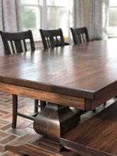 Load image into Gallery viewer, Devin Pedestal Table - Red Oak