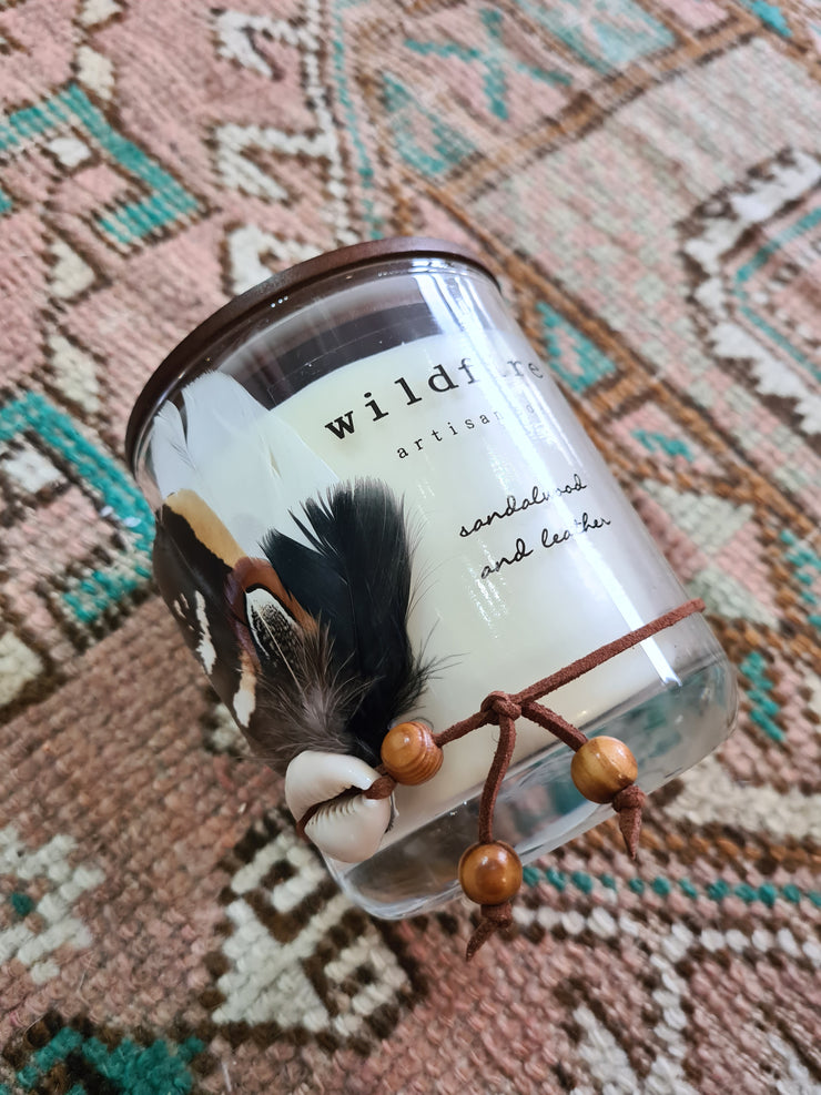 Sandalwood & Leather Soy Candle