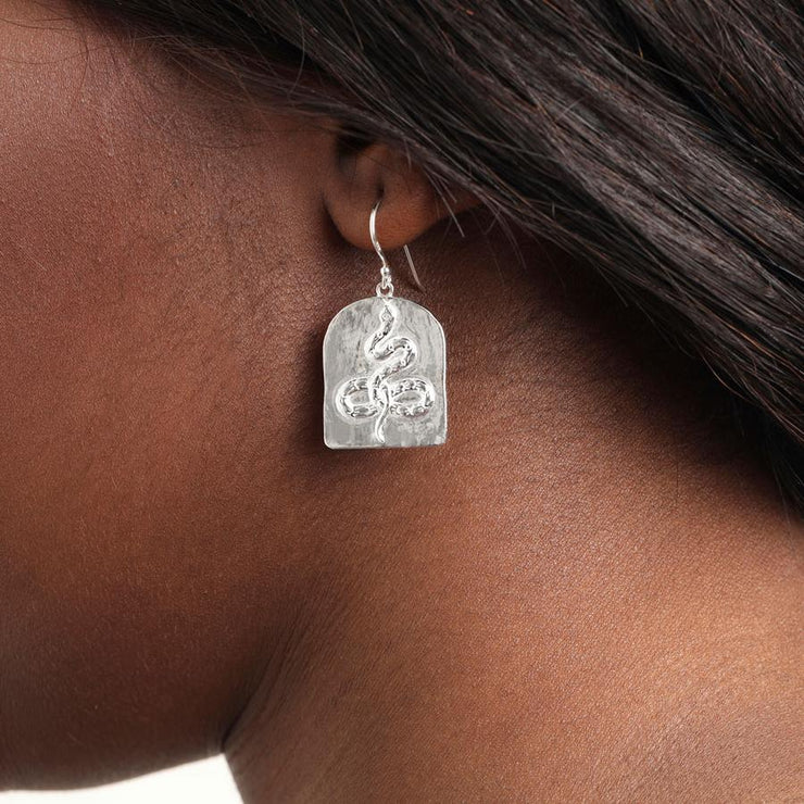 Face Yourself Or Run Earrings