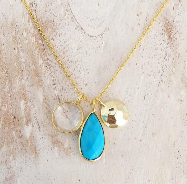 Wanderlust Necklace // Turquoise