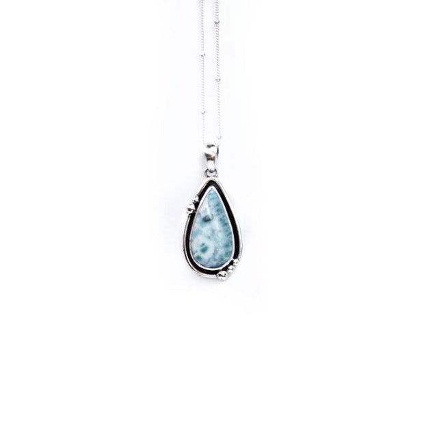 Larimar Necklace // Silver