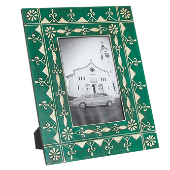 Green Boho Photo Frame 4x6