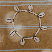 Wanderlust Cowrie Anklet // Ivory