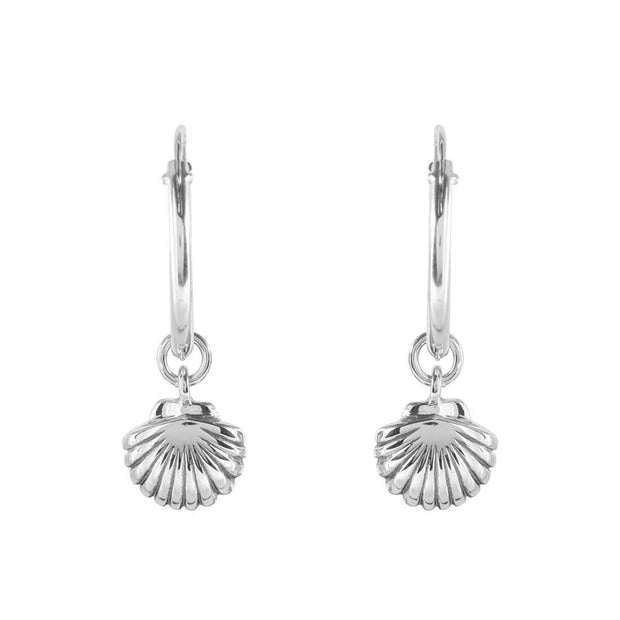 Silver Seashell Ear Charms