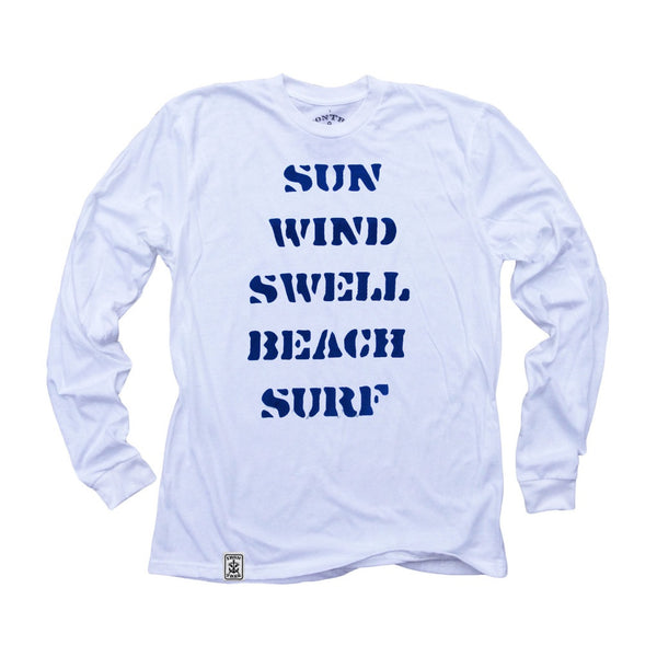 How are Waves Created?: Organic Fine Jersey Long Sleeve T-Shirt