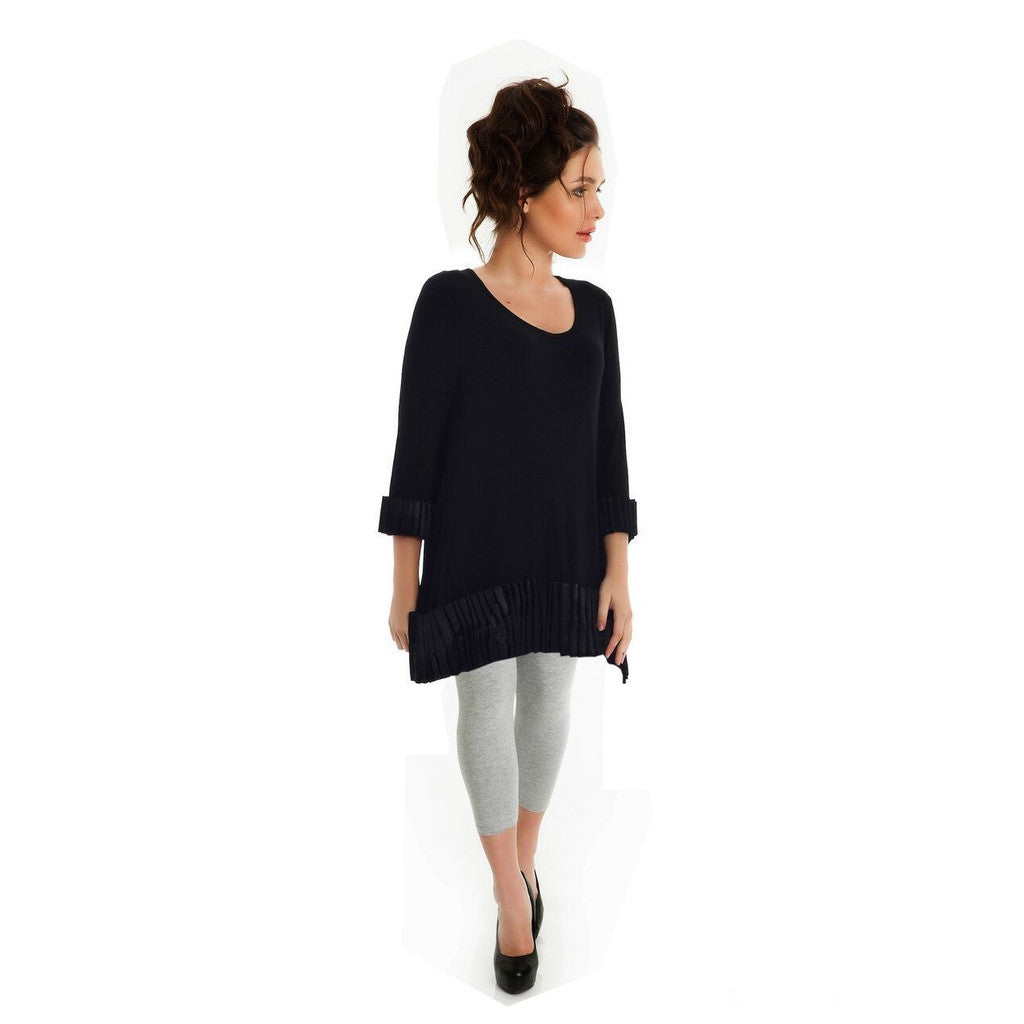 Plus size Black Long Sleeve Tunic