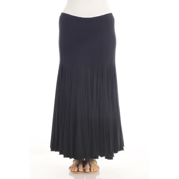 Plus size Black Loose Fit Skirt