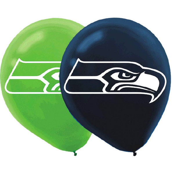 Seattle Seahawks Balloons | 6 in pack