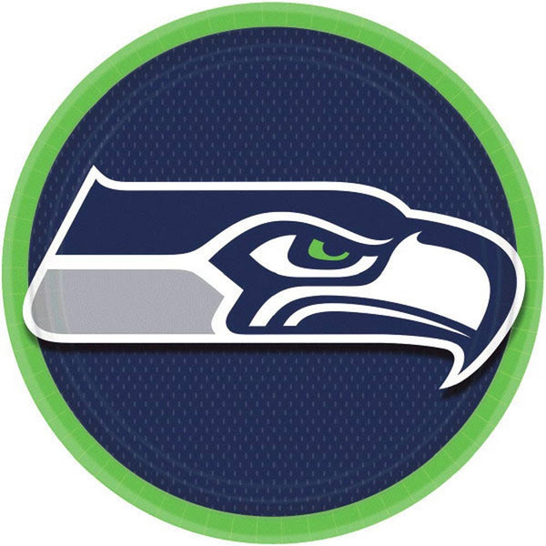 Seattle Seahawks Round Plates | x 8