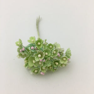 Forget-Me-Not Wired Millinery Flowers (Bright Green)
