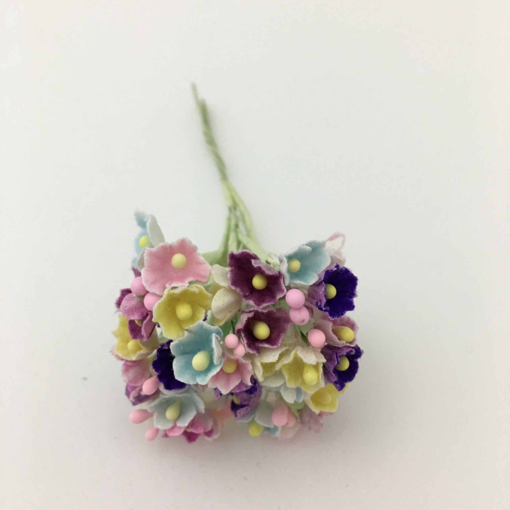 Forget-Me-Not Wired Millinery Flowers (Mixed  Berry)