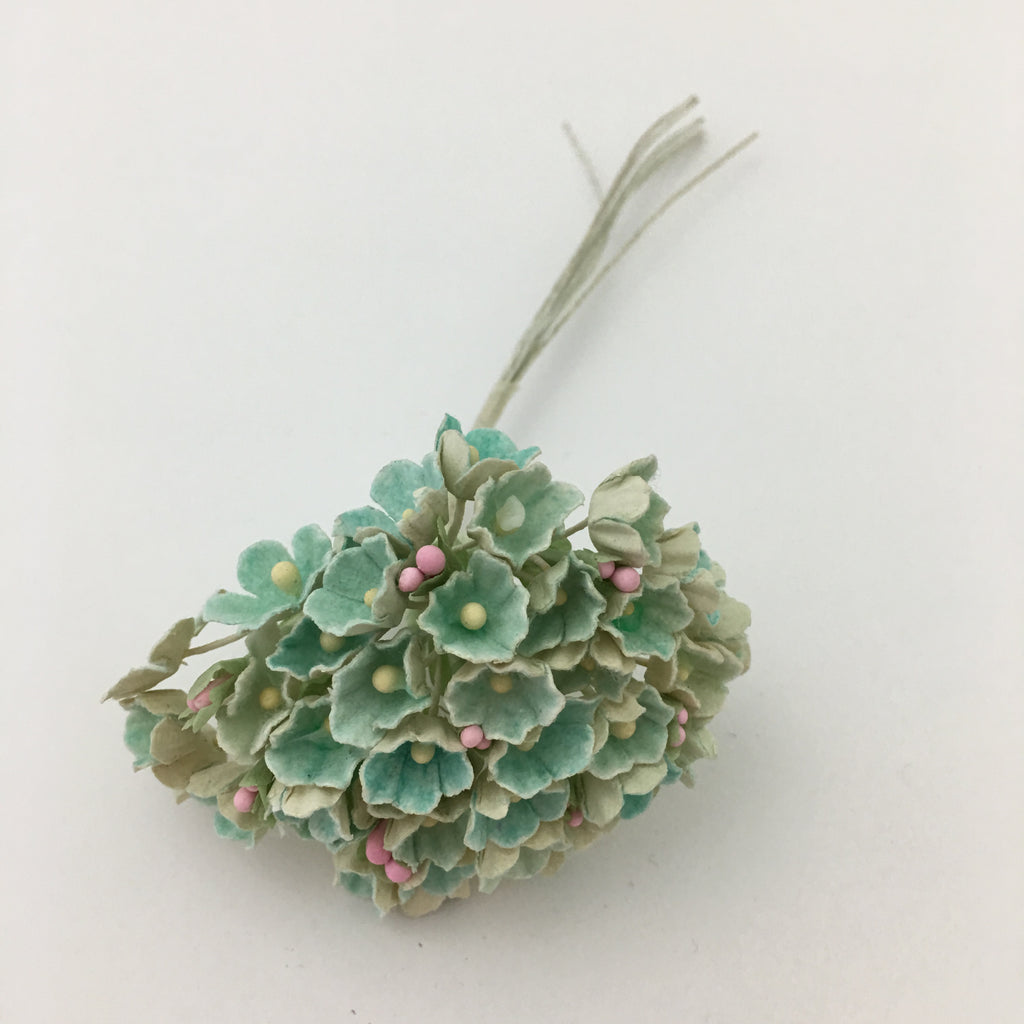 Forget-Me-Not Wired Millinery Flowers (Aqua)