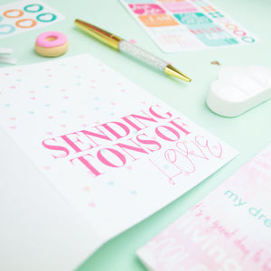 Positive Vibes Collection | Stationery and Planner Accessories
