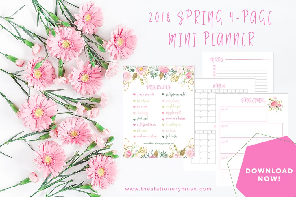 2018 Spring Mini Planner | Free Download