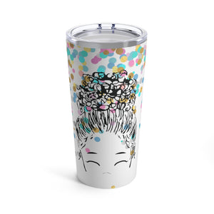 Bun Girl Confetti Tumbler | Limited Edition Holiday