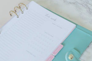 ONE PAGE WEEKLY PLANNER A5 PLANNER INSERTS - The Stationery Muse