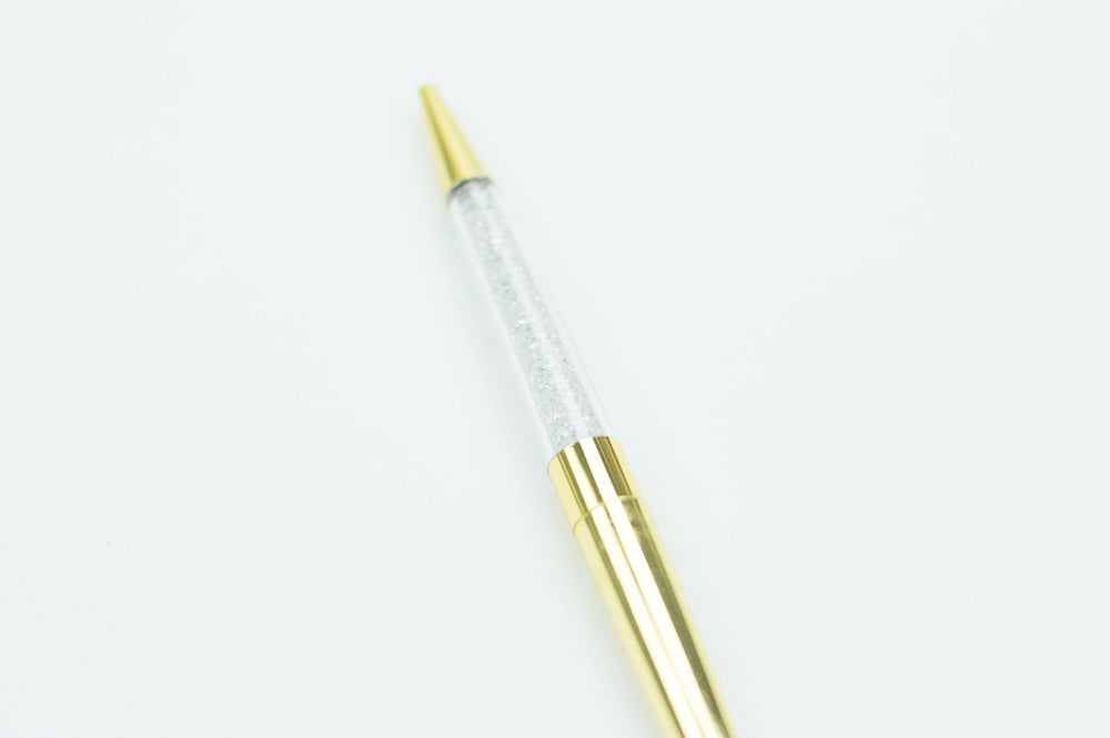 Gold Crystal Ink Pen - The Stationery Muse