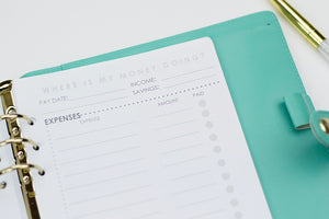 Expense Tracker Planner Inerts: A5 Size - The Stationery Muse