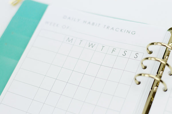 Daily Habit Tracker Planner Inserts: A5 Size - The Stationery Muse