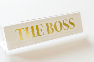 BOSS Gold Foil Nameplate