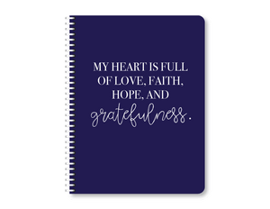 """Grateful Heart"" Mini Lined Notebook"