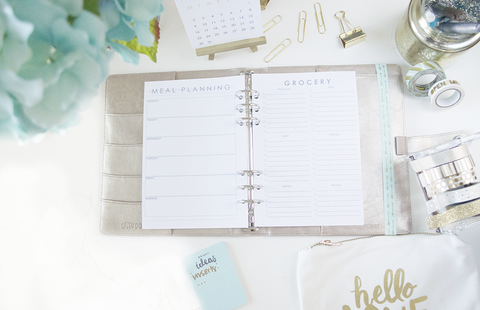 MEAL AND GROCERY SHOPPING DUO A5 PLANNER INERTS - The Stationery Muse