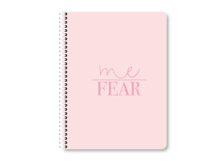 "Pink ""Me Over Fear"" Mini Lined Notebook 