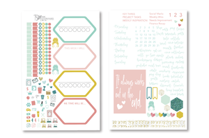 Bright Day Weekly Sticker Kit | Business Planner Stickers