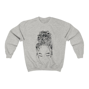 Bun Girl Sweatshirt - Ash