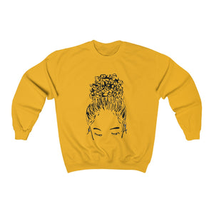Bun Girl Sweatshirt - Gold
