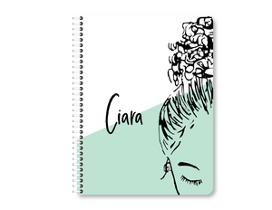 CUSTOMIZED Mint Bun Girl Notebook