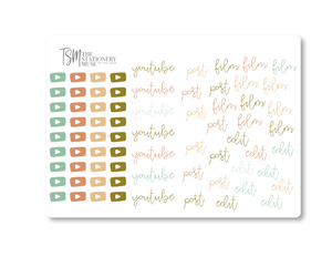 YouTube Social Media Sticker Sheet: Classic Coral