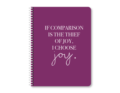 """Comparison or Joy"" Mini Lined Notebook"