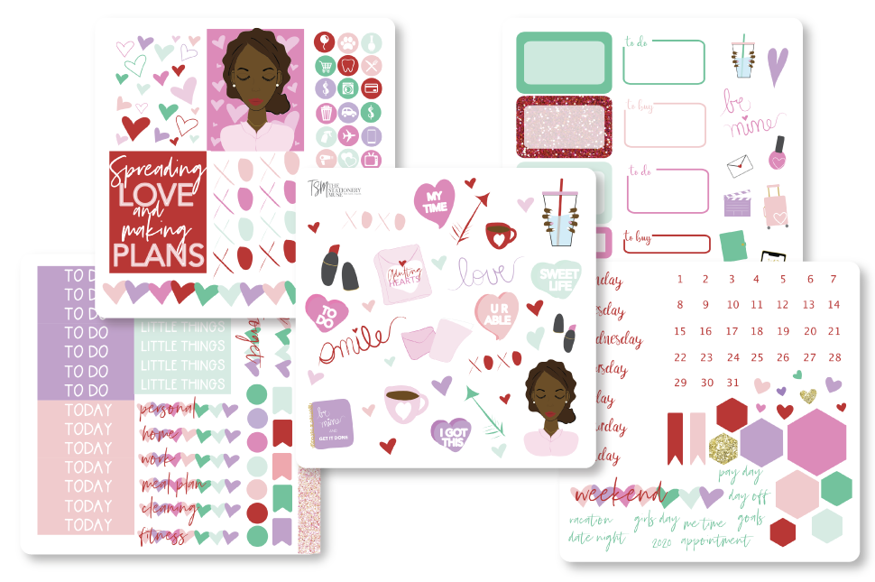 Convo Hearts Sticker Kit