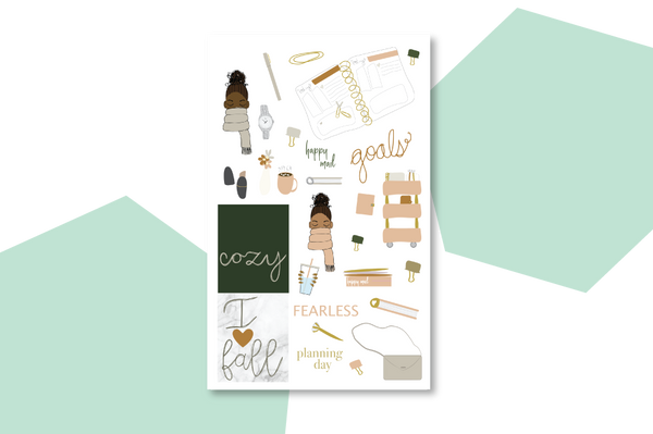 Cozy Harvest Sticker Book