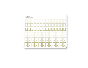 Border Page Flag Planning Stickers: Classic Colors