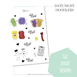 Date Night Doodler Stickers
