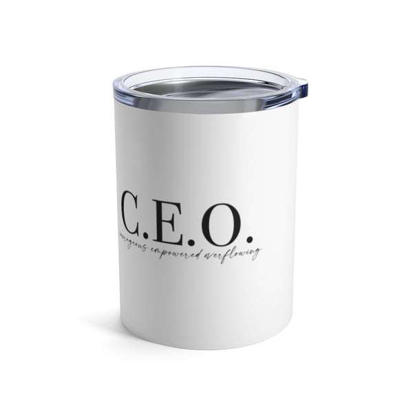CEO Mindset Mini Tumbler - White
