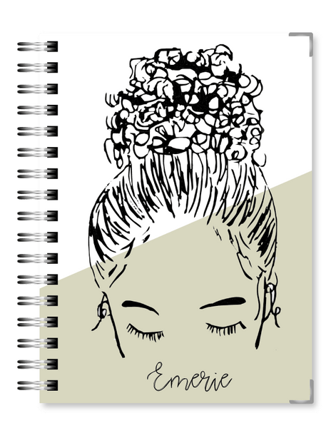 Tan Bun Girl 2021 Business Planner - Text Customization