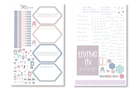 Faded Jewel Weekly Sticker Kit | Business Planner Stickers