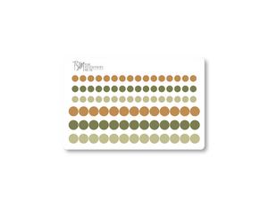 Mini Dot Planning Stickers: Fall