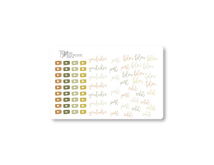 YouTube Social Media Sticker Sheet: Fall