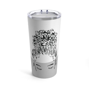 CUSTOMIZED Bun Girl Tumbler: Gray