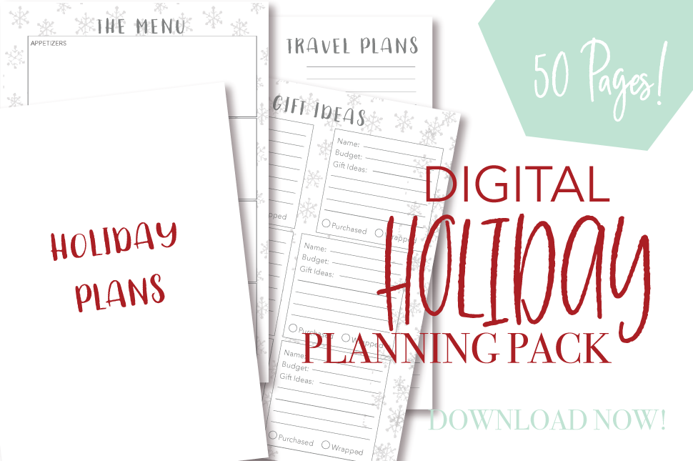 DIGITAL DOWNLOAD: A5 Holiday Planning Pack
