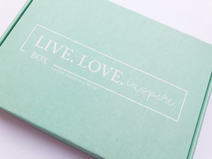 Live. Love. Inspire. Box | Monthly Subscription Box For Planner Lovers - The Stationery Muse