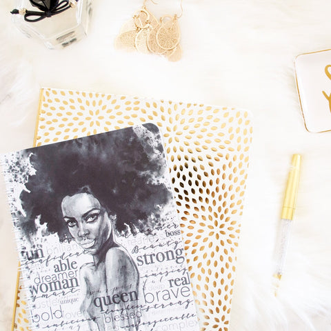 """Confident Queen"" Mini Lined Notebook - The Stationery Muse"